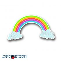Rainbow Cornhole Decal