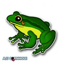 Rainforest Frog Cornhole Decal
