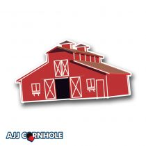 Red Barn Cornhole Decal