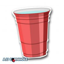 Red Plastic Cup Cornhole Decal