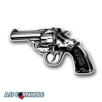 Revolver Cornhole Decal