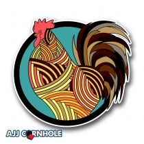 Rooster Pattern Cornhole Decal