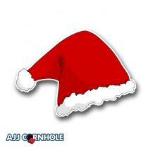 Santa Hat Cornhole Decal