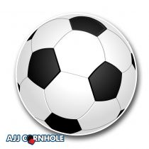 Soccer Ball Cornhole Decal