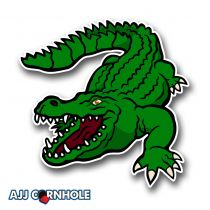 Swamp Alligator Cornhole Decal