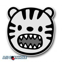 Tiger Toon Cornhole Decal