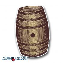 Whiskey Barrel Cornhole Decal