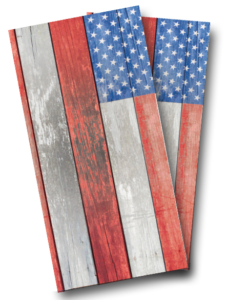 Distressed American Flag Cornhole Wrap