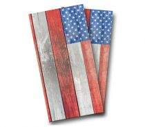 """Distressed American Flag"" Cornhole Wrap"