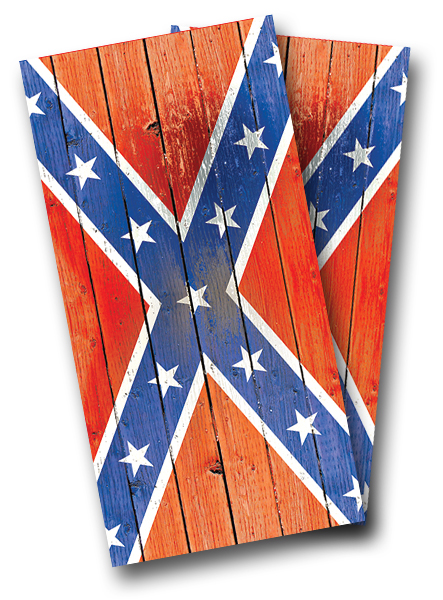 Distressed Confederate Flag Cornhole Wrap