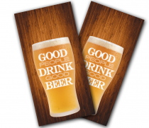 """Good People Drink Good Beer"" Cornhole Wrap"
