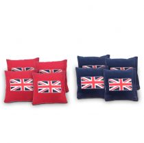 """British Flag"" Cornhole Bags - Set of 8"