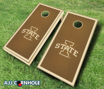 Iowa State Cyclones Stained Cornhole Set