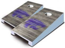 Kansas State Wildcats Distressed Tabletop Set