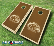 Kent State Golden Flashes Stained Cornhole Set
