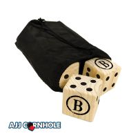 Burned Monogram Lawn Dice Game