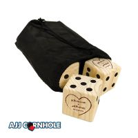 Tree Carved Heart Wedding Lawn Dice Game