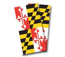 """Maryland Flag"" Cornhole Wrap"