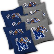 Memphis Tigers Cornhole Bags - Set of 8