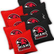 Miami Redhawks Cornhole Bags - Set of 8