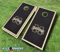 Mississippi State Bulldogs Stained Cornhole Set