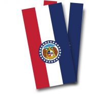 """Missouri Flag"" Cornhole Wrap"