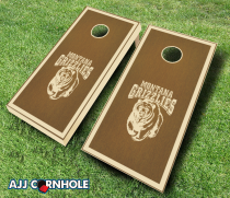 Montana Grizzlies Stained Cornhole Set