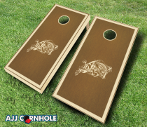 US Naval Academy Stained Cornhole Set