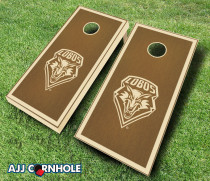 New Mexico Lobos Stained Cornhole Set