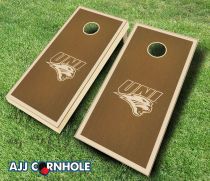 Northern Iowa Panthers Stained Cornhole Set