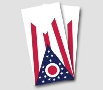 """Ohio Flag"" Cornhole Wrap"