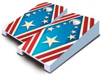 """Patriotic"" Tabletop Cornhole Set"