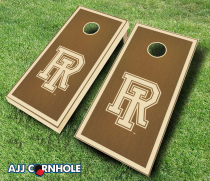 Rhode Island Rams Stained Cornhole Set