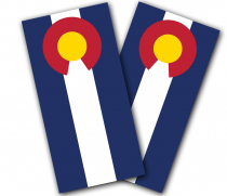 """Colorado Flag"" Cornhole Wrap"