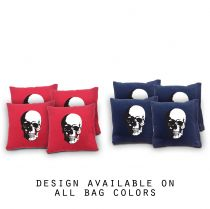 """Skull"" Cornhole Bags - Set of 8"