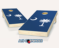 """South Carolina Flag"" Cornhole Set"