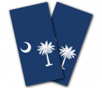South Carolina Flag Cornhole Wrap