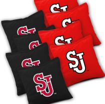 St John's Red Storm Cornhole Bags - Set of 8