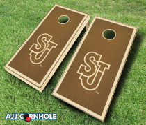 St John's Red Storm Stained Cornhole Set