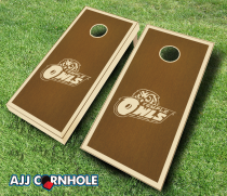 Temple Owls Stained Cornhole Set