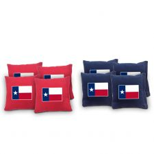 """Texas Flag"" Cornhole Bags - Set of 8"