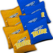 Toledo Rockets Cornhole Bags - Set of 8