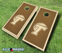 Tulane Green Wave Stained Cornhole Set