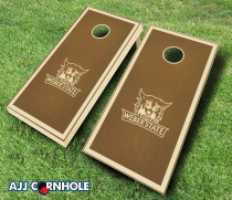 Weber State Wildcats Stained Cornhole Set