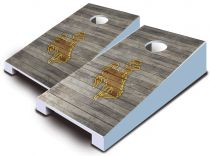 Wyoming Cowboys Distressed Tabletop Set