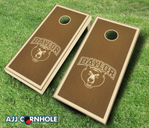 """Baylor Bears"" Stained Cornhole Set"