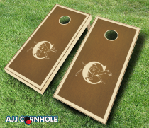 """Campbell Fighting Camels"" Stained Cornhole Set"