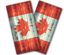 """Canadian Flag Distressed"" Cornhole Wrap"