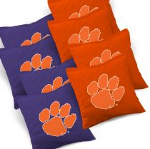 Clemson Tigers Cornhole Bags - Set of 8