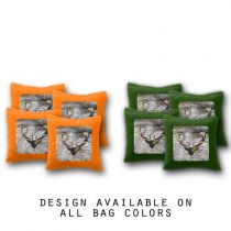 """Deer Head"" Cornhole Bags - Set of 8"